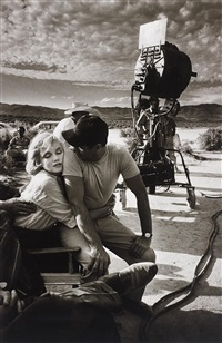 marilyn monroe and eli wallach on the set of the misfits, nevada by eve arnold