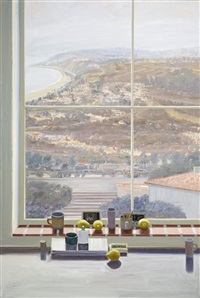 still life against a window- pacific palisades by larry cohen