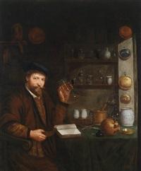 ein arzt in seinem studierzimmer by johannes cordua