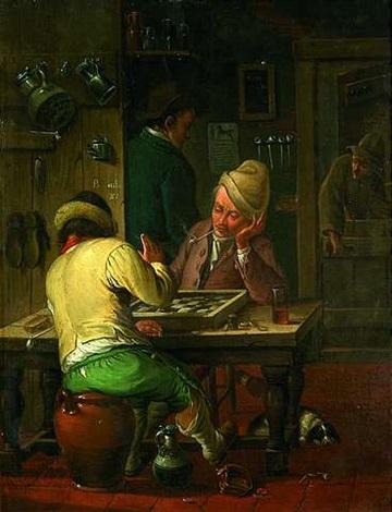 damespieler in einer taverne by german school-frankfurt (18)
