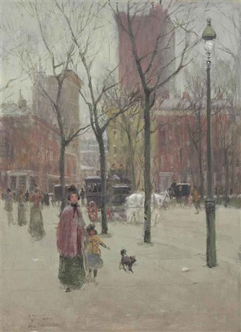new york city by paul cornoyer