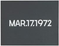 mar.17, 1972 by on kawara