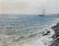 yacht at sea by nikolai nikanorovich dubovskoy