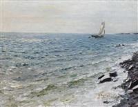yacht at sea by nikolai nikanorovich dubovskoy