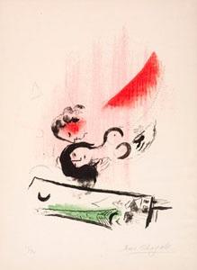 la tour eiffel verte by marc chagall