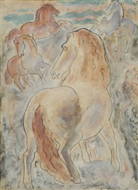 three horses by leo gestel