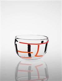 rare gatto vase (from the a macchie series) by fulvio bianconi