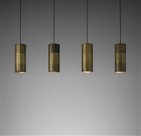 set of four ceiling lights, from the reception of béghin say, kunheim factory, kaysersberg by jacques quinet
