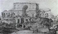 la villa madama en ruines a rome by louis hippolyte le bas