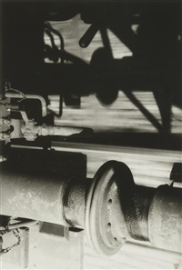blick aus der fahrenden eisenbahn (vue depuis le train en marche) by ilse bing