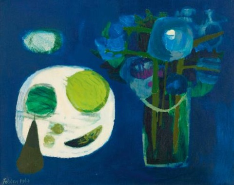 blue still life by mary fedden