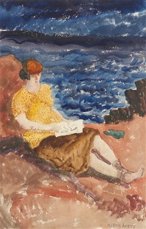 woman reading by milton avery