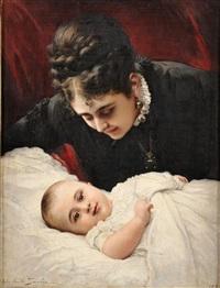 mère et son enfant by jules emile saintin
