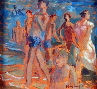 summer bathers, lowestoft by jeffery camp