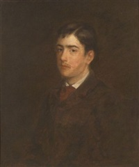 portrait of a boy (mr. agassiz) by george f. fuller