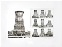 kühltürme/stahl-welleternit (cooling towers/corrugated cement) (2 works) by bernd and hilla becher