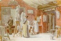 the sculptors studio by ethel atcherley
