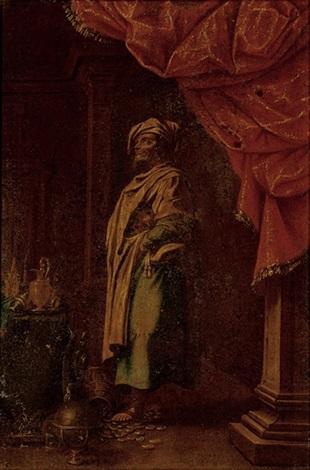 croesus contemplating his riches by francesco fieravino il maltese