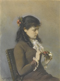 portrait of the artist's daughter by alexander petrovitch sokolov