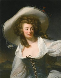 portrait of the artist's wife marie pierrette antoinette danloux, née de saint redan by henri-pierre danloux