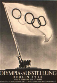 olympia-ausstellung berlin 1935 by posters: sports - olympics