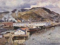 western terminals and bowater pulp and paper mill, corner brook, newfoundland by robert wakeham pilot