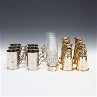 animal design goblets & others (16 pieces) by gucci (co.)
