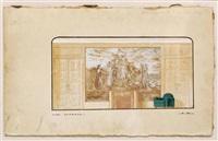 boceto para el fresco en la sociedad de minas de parís by angel zárraga