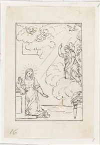 group of 8 figure and compositional studies by pietro antonio novelli