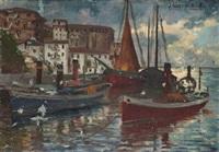 barcas en el puerto by julián ibáñez de aldecoa