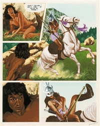 amazones, planche 52 (for album) by jean torton