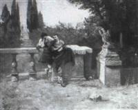 lovers on a terrace by sanricki