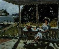dans la veranda by nikolai repine