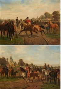 le marché aux chevaux (2 works) by paul van der vin