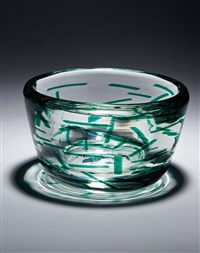 glass bowl by fulvio bianconi