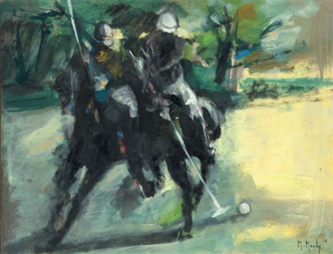 scène de polo by marcel mouly