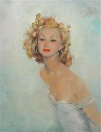 portrait de jeune fille by jean-gabriel domergue