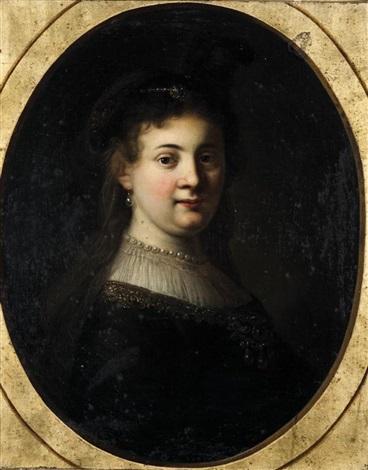 portrait présumé de saskia by jean baptiste santerre