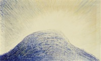 blaue bergkuppe by albert trachsel