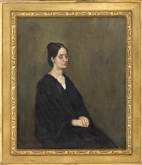 kvinneportrett by christian krohg
