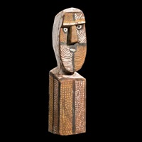 tiwi ceremonial figure by mickey geranium warlapinni