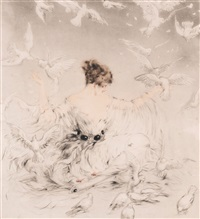 Lady with Doves