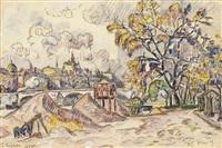 le pont royal, automne by paul signac