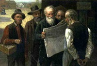gathering news by samuel bell waugh