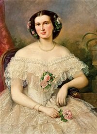 portrait der schauspielerin fanny ellßler by theodor petter