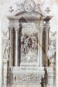 proyecto para un retablo con el bautismo de cristo by pablo rigalt y fargas