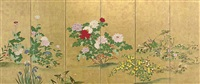 flowers and grasses by japanese school-rimpa (19)