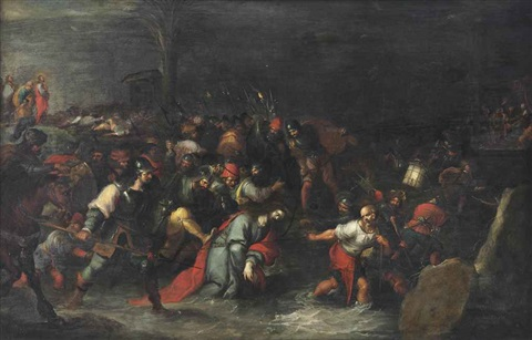 christ being dragged through the brook cedron after his arrest by frans francken the younger