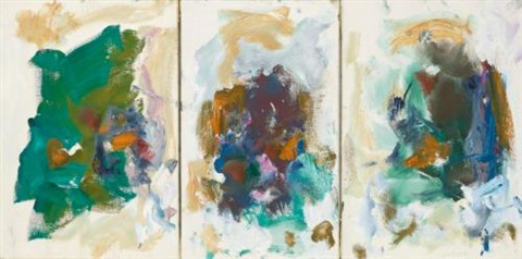 plaques in 3 parts by joan mitchell