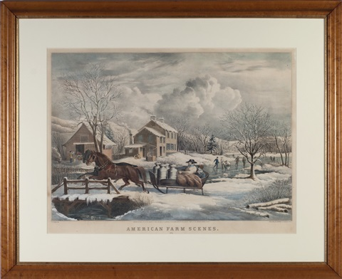 american farm scenes set of 4 by nathaniel currier